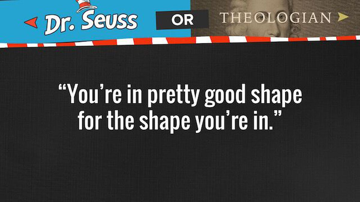 THEOLOGIAN or DR. SEUSS? Youth Group Game image number null