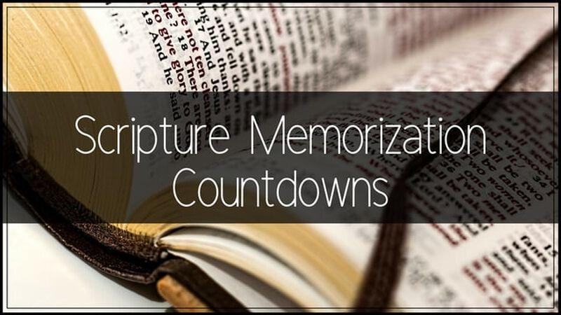 Scripture Memorization Countdowns