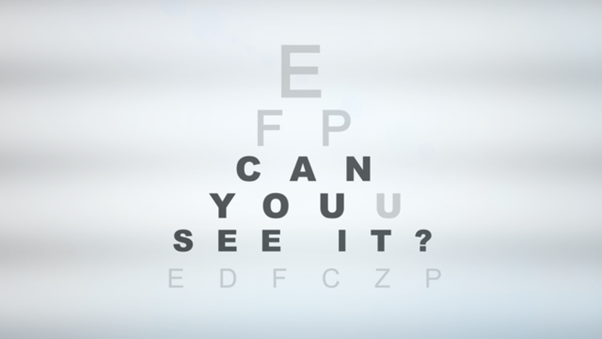 Can You See It? Video image number null
