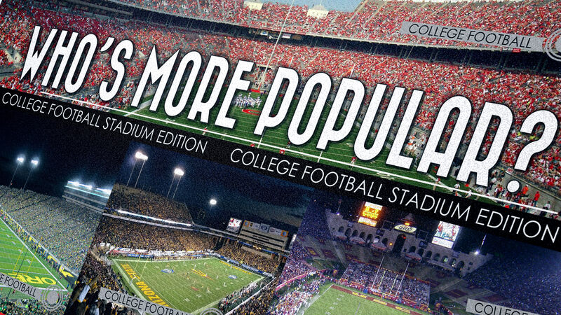 Who's More Popular? College Football Stadium Edition