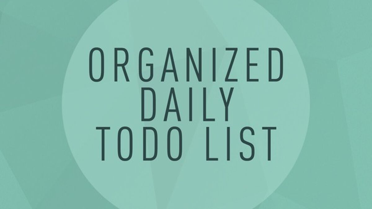 Organized Daily To-Do List image number null