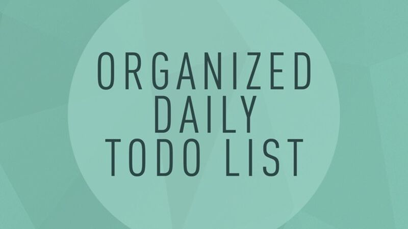 Organized Daily To-Do List