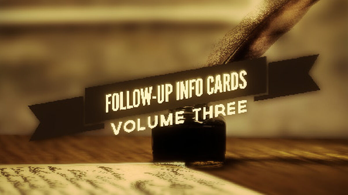 Follow Up Info Cards: Vol 3 image number null