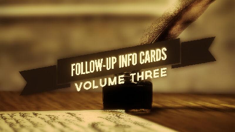 Follow Up Info Cards: Vol 3