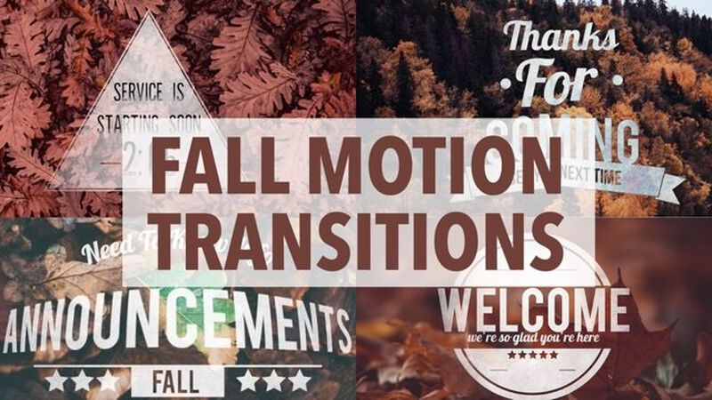Fall Badge Motion Transitions: Vol. 2