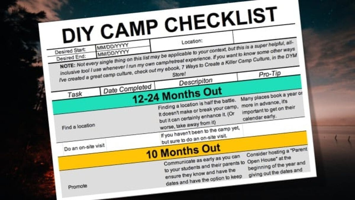 DIY Camp and Retreat Checklist image number null