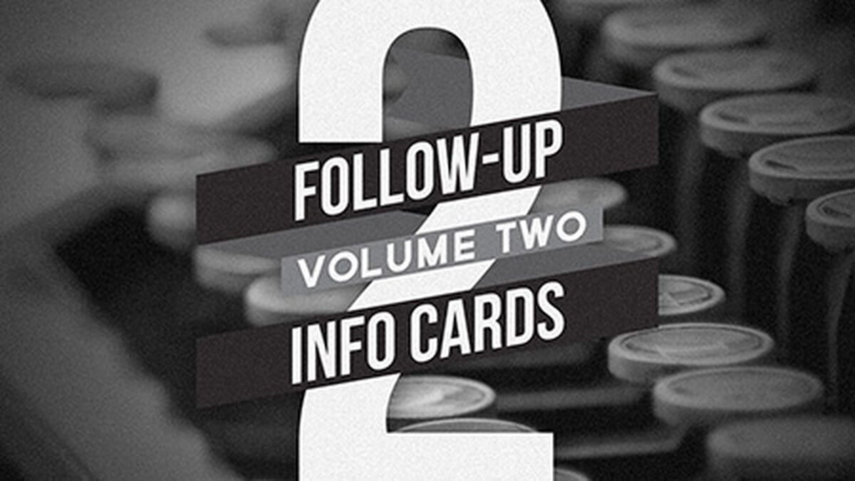 Follow Up Info Cards: Vol 2 image number null