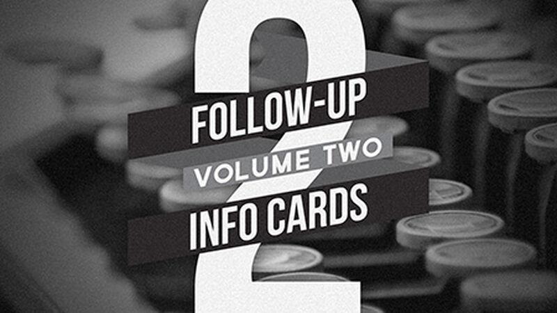 Follow Up Info Cards: Vol 2