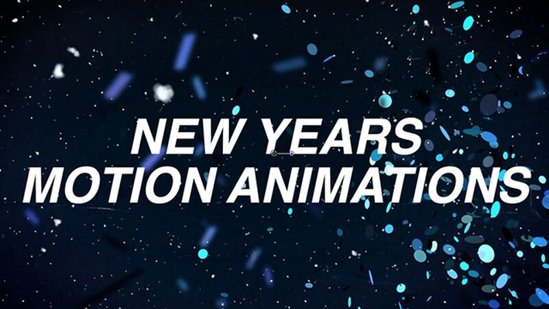 New Years Motion Animation