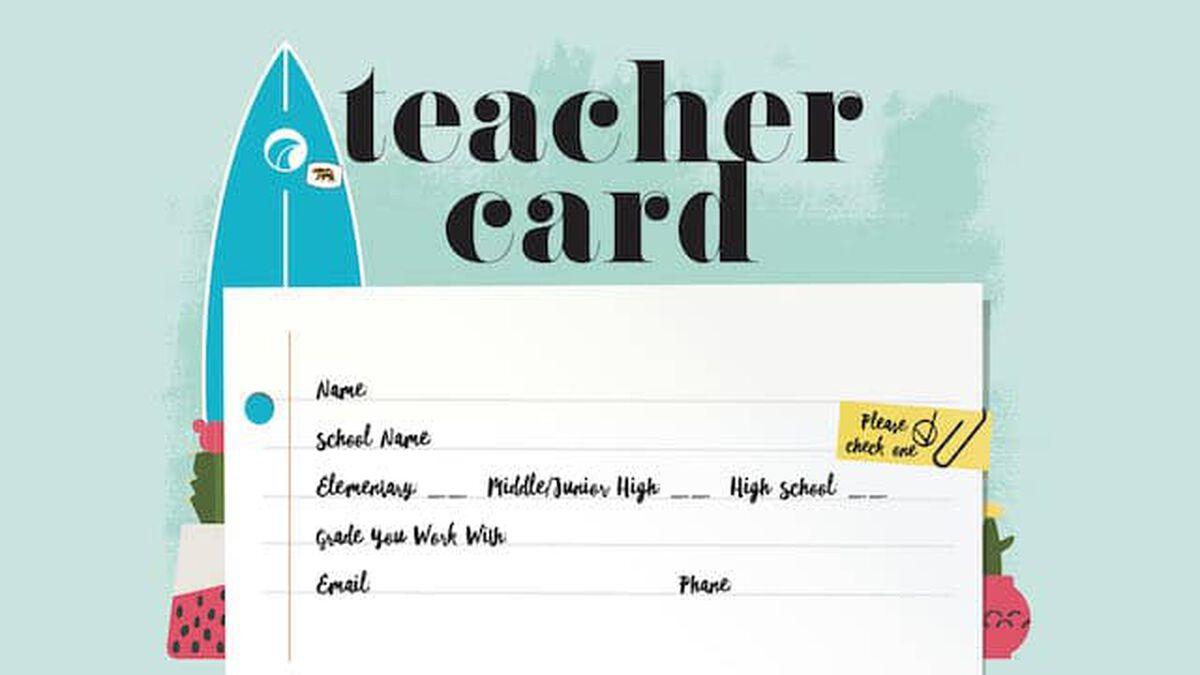 Teacher Info Card image number null