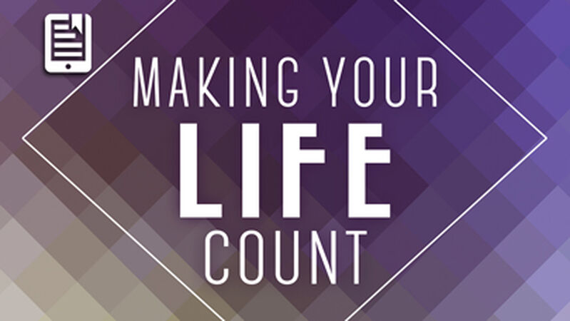 Making Your Life Count (reproducible growth booklets)