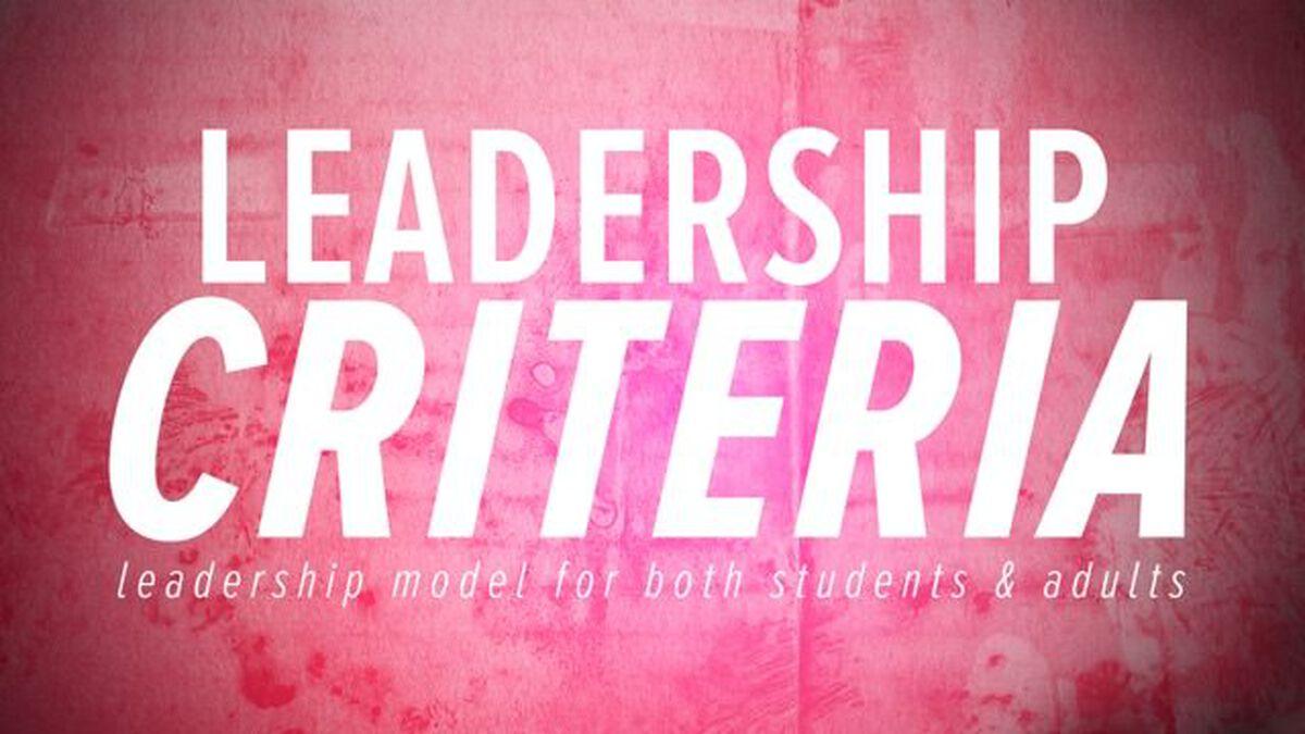 Leadership Criteria image number null