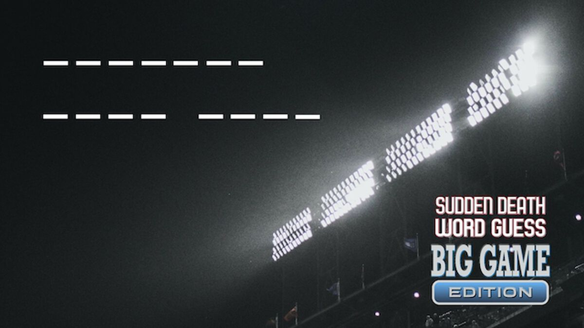 Sudden Death Word Guess: Big Game Edition image number null
