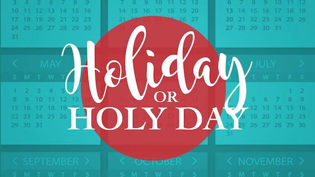 Holiday or Holy Day? image number null