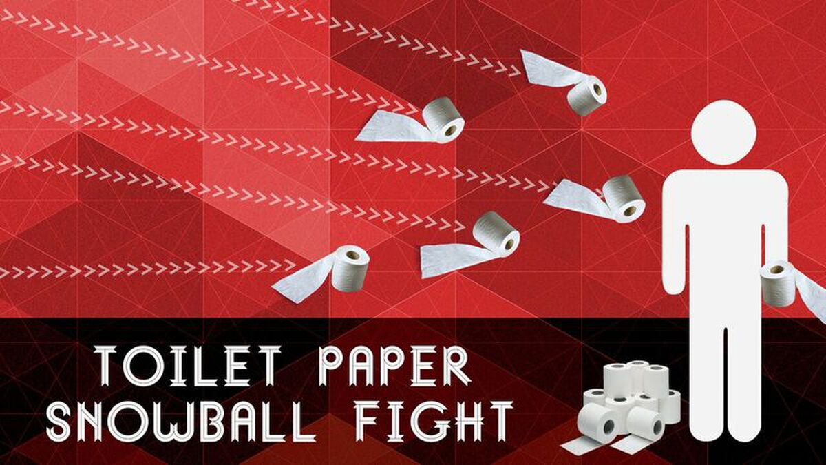 Toilet Paper Snowball Fight image number null