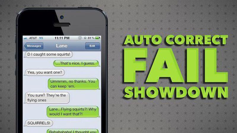 Auto-Correct Fail Showdown
