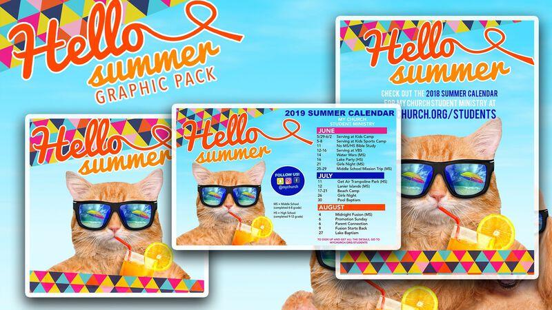 Cool Cat Summer Graphics