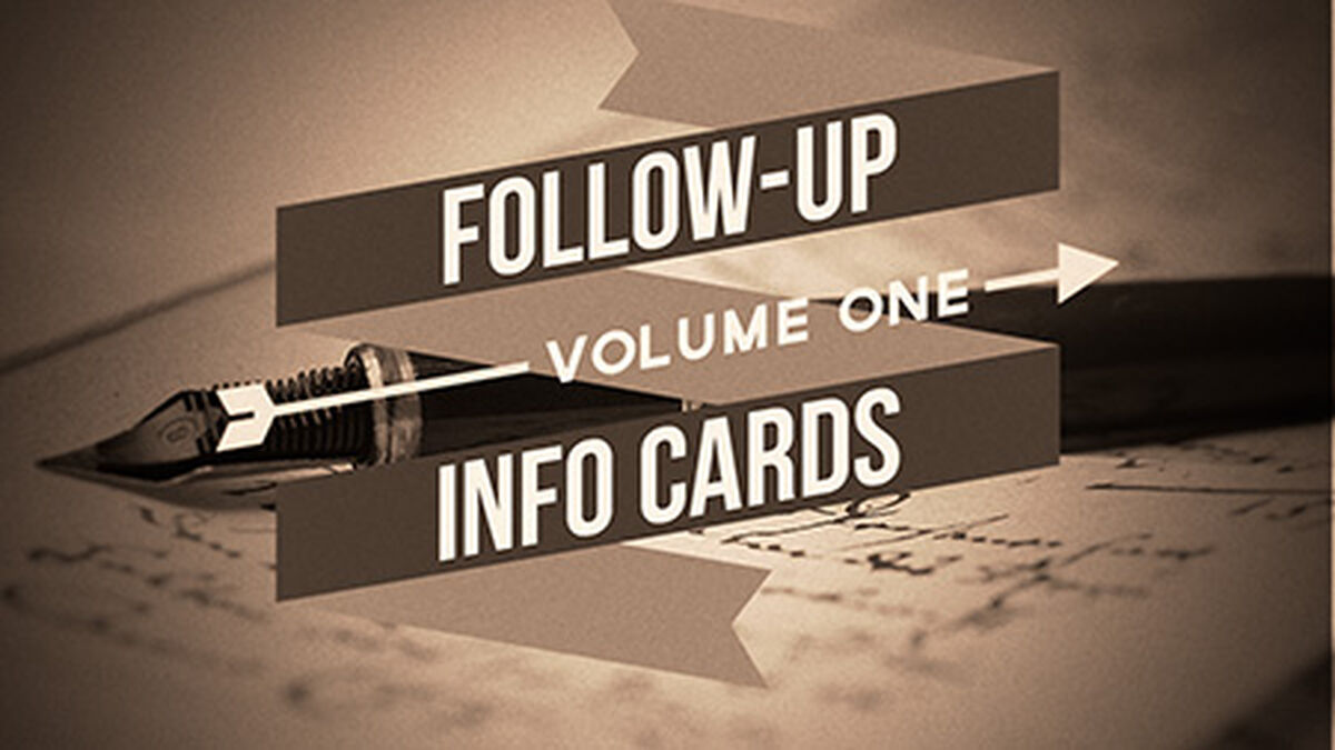 Follow Up Info Cards: Vol 1 image number null