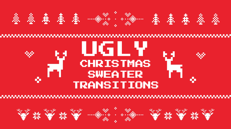 Ugly Christmas Sweater Video Transition Pack