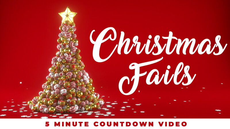 Christmas Fails Countdown Video