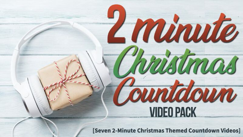 2 Minute Christmas Countdown Pack