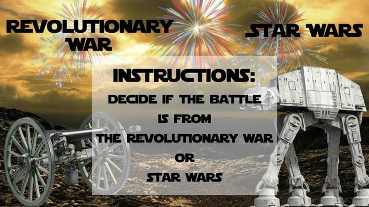 Revolutionary War or Star Wars image number null
