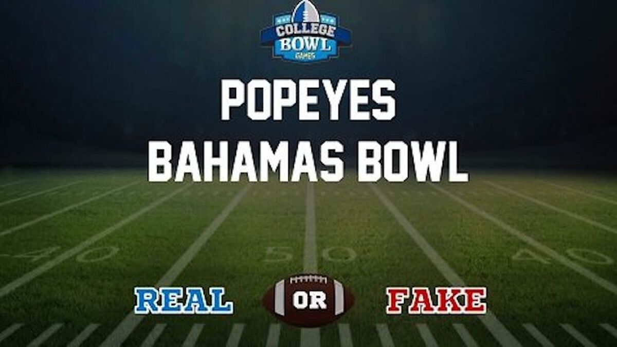 Real/Fake: College Bowl Games image number null