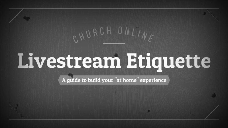 Livestream Etiquette Video & Countdown
