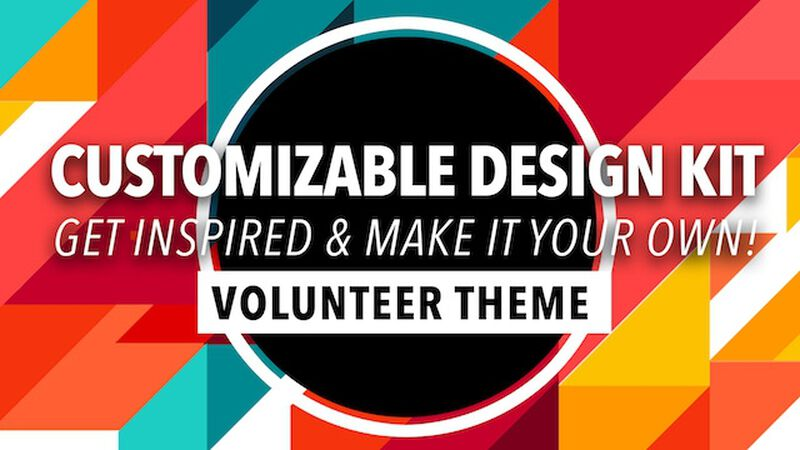 Customizable Design Kit: Volunteer Theme