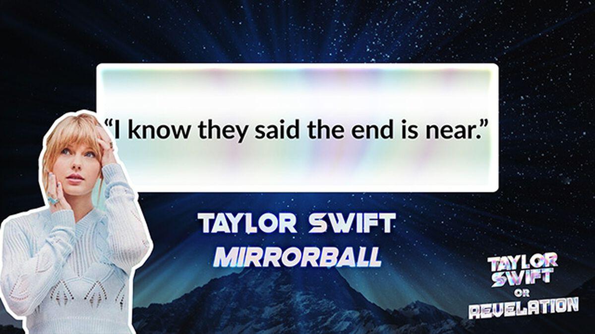 Taylor Swift Or Revelation? image number null