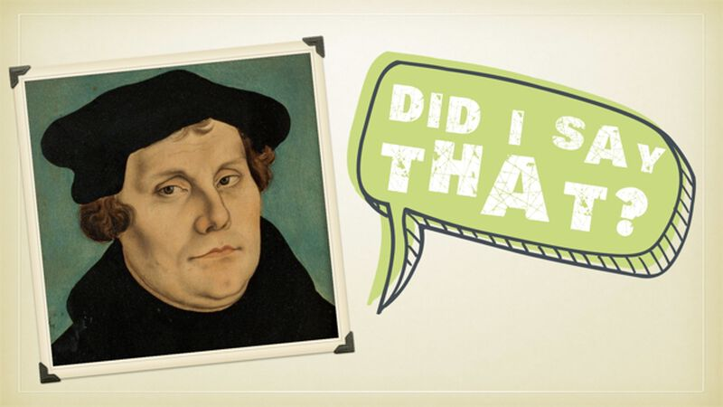 Martin Luther Insults