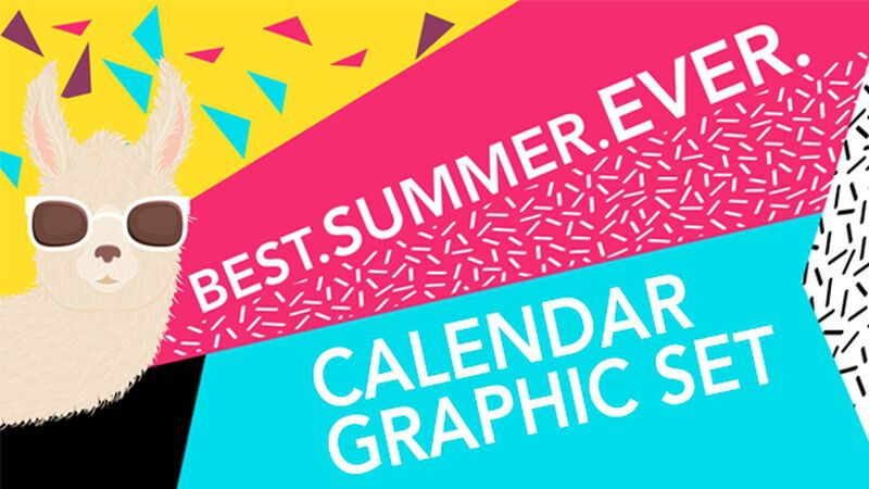 Best Summer Calendar Graphics Pack