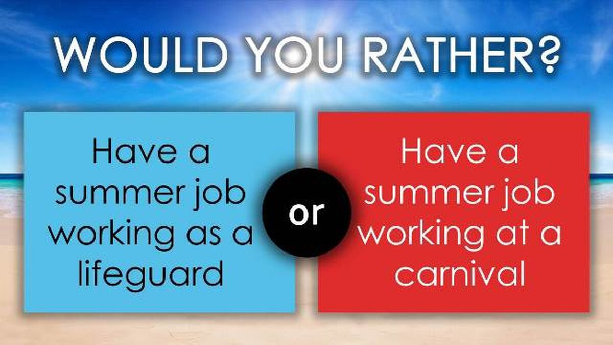 Would You Rather: Summer Break image number null
