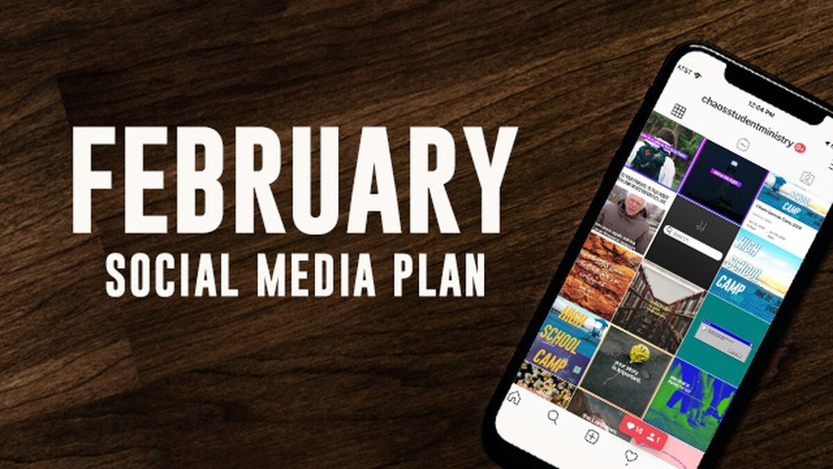 February Social Media Plan image number null