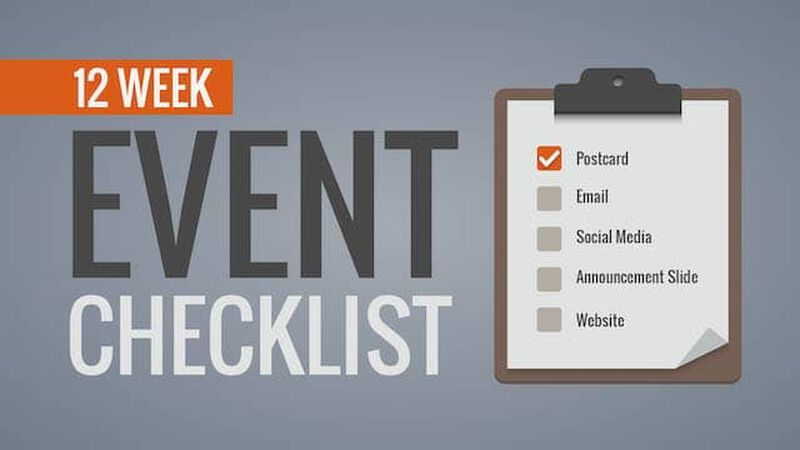 Twelve Week Event Promotional Checklist