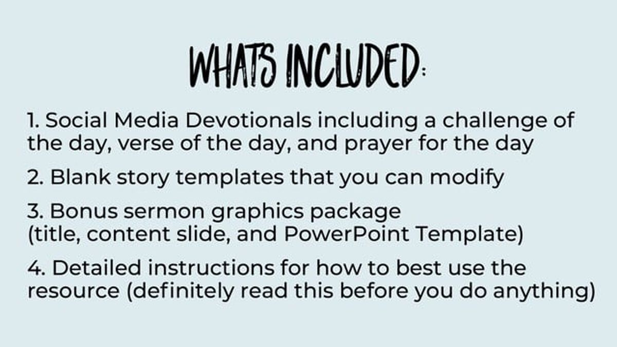 Back to School [Insta] Story Devotional image number null
