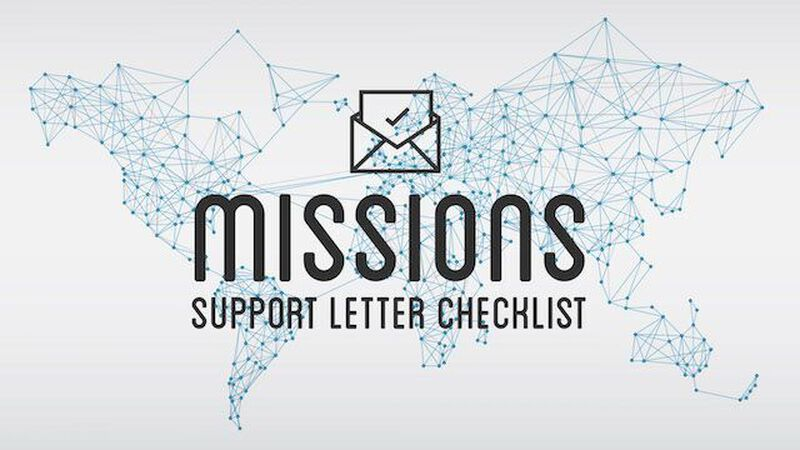 Mission Support Letter Checklist & Samples