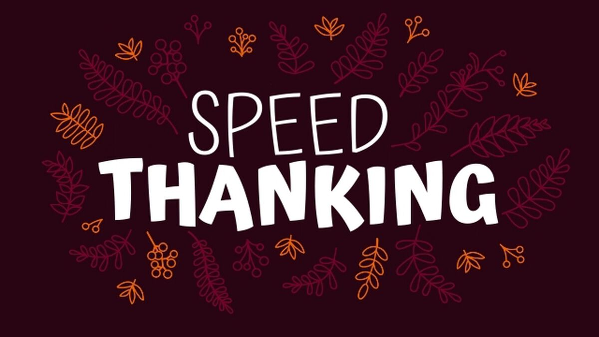 Speed Thanking image number null