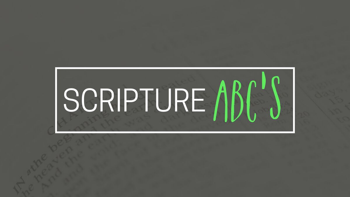 Scripture ABC's image number null