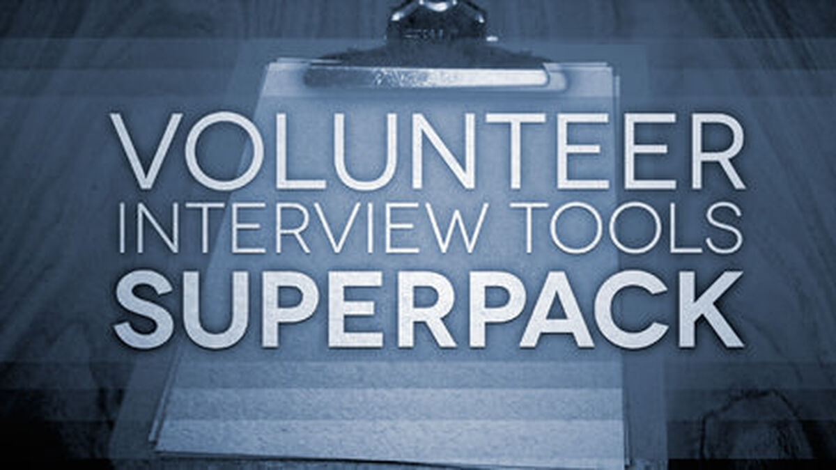 Volunteer Interview Tools Superpack image number null