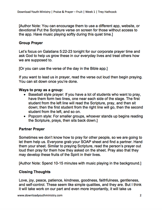 Prayer and Praise - Fruit image number null