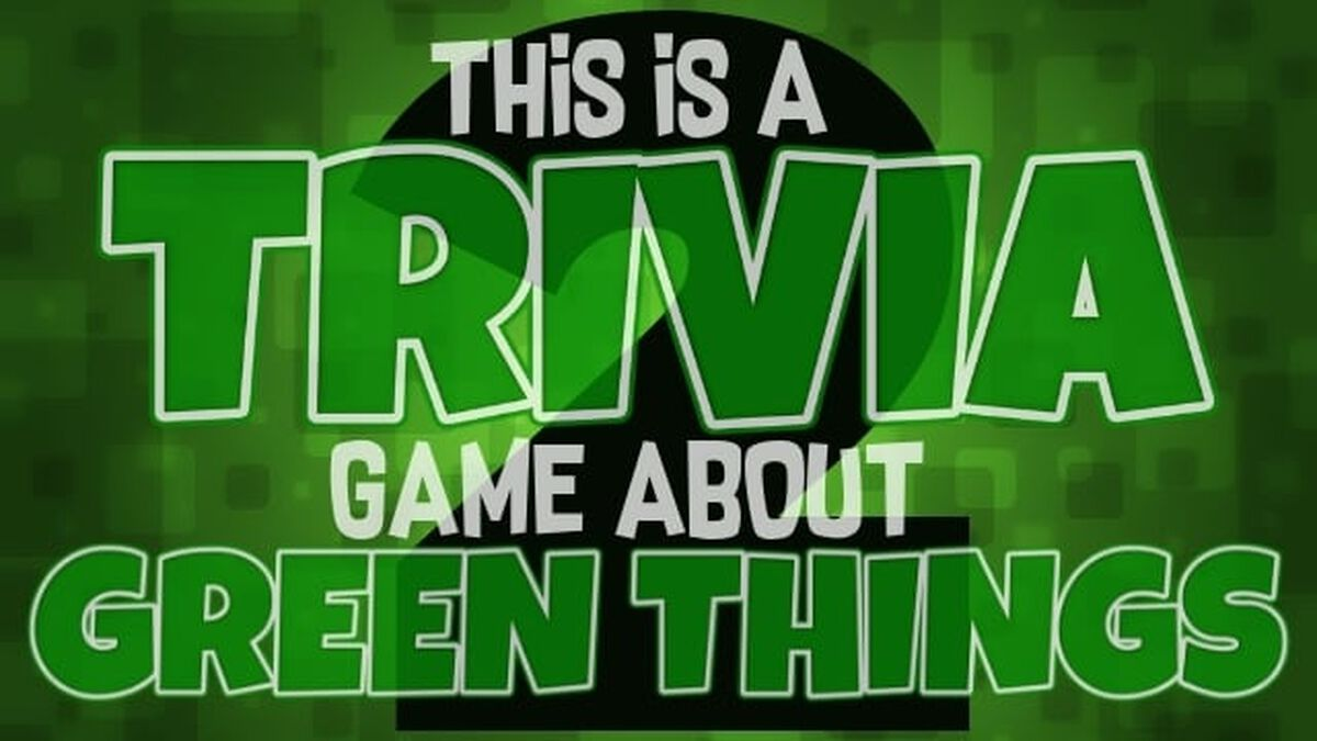 This Is A Trivia Game About Green Things Volume 2 image number null