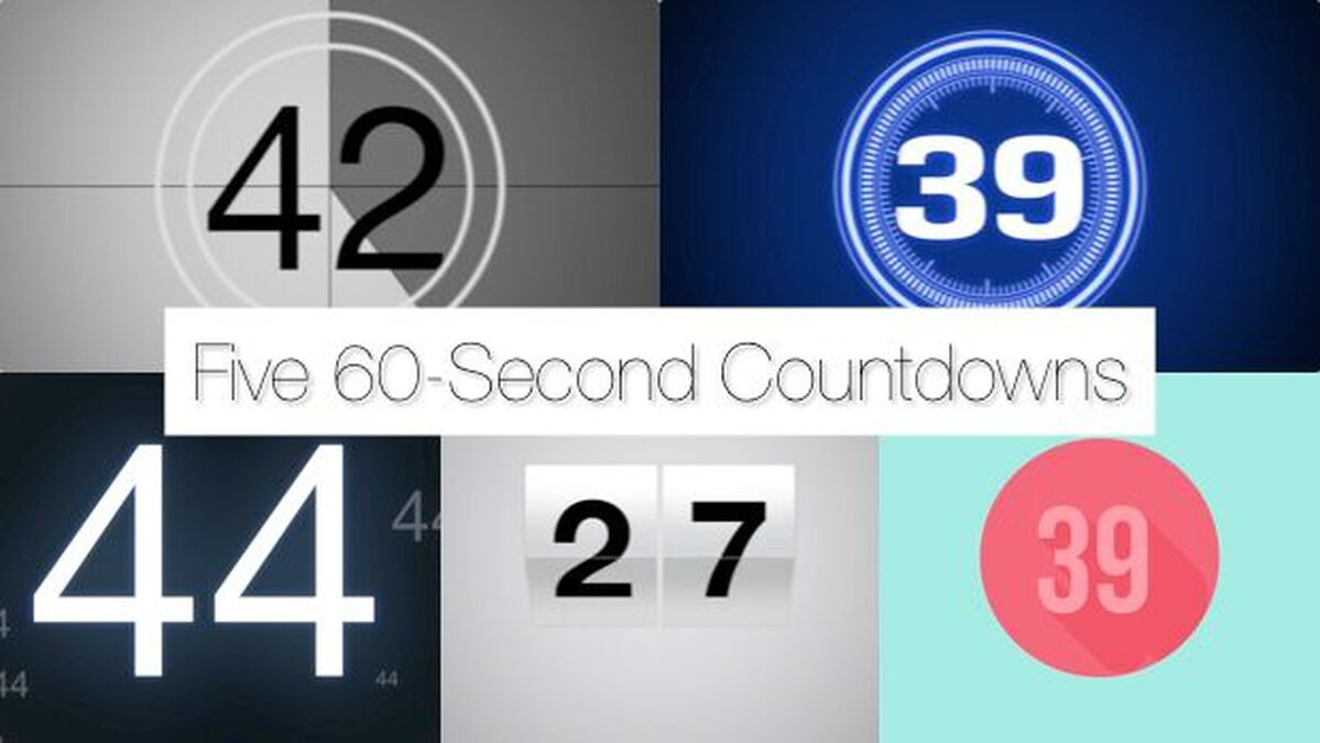 Five 60-Second Countdown Videos image number null