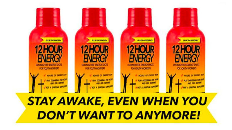 12-Hour #YouthMin Overnighter Energy™ Shots