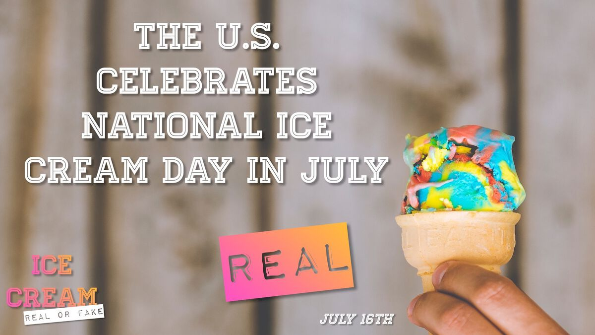 Ice Cream: Real or Fake? image number null
