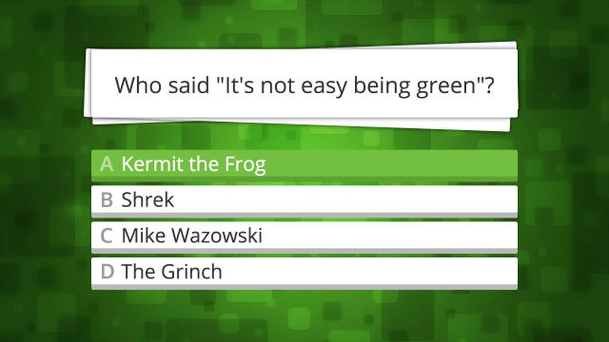 This Is A Trivia Game About Green Things image number null