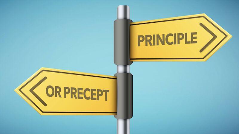 Principle or Precept? (laws or guidelines)