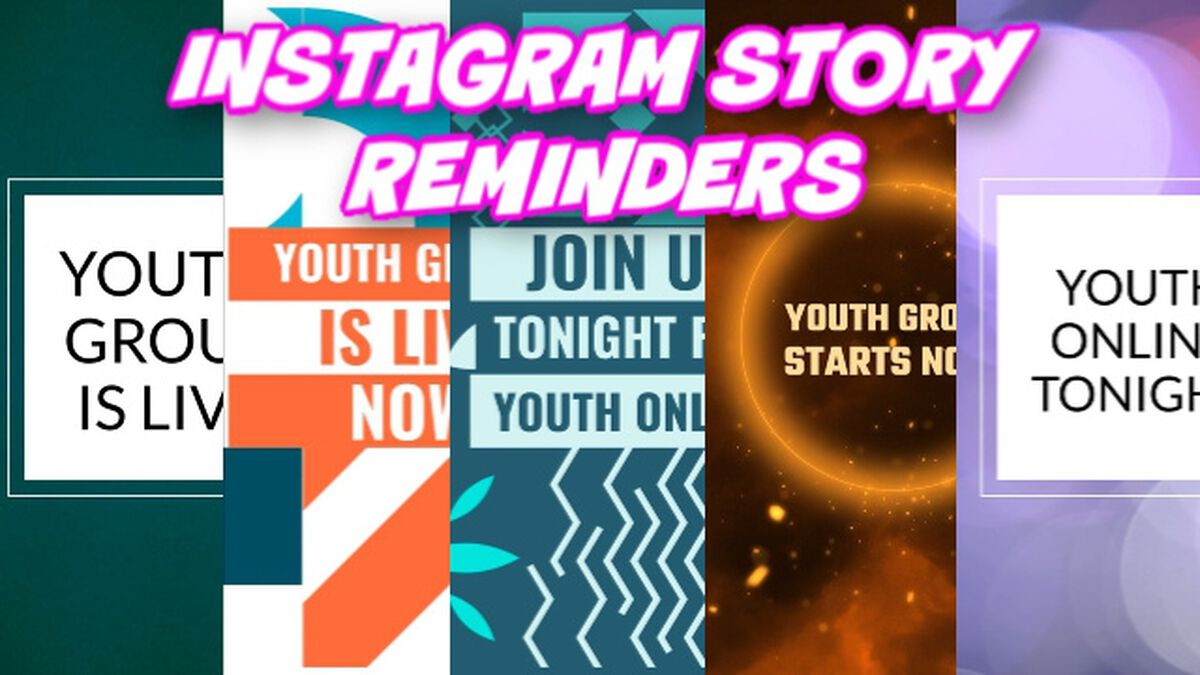 Instagram Story Reminders for Online Youth Services image number null