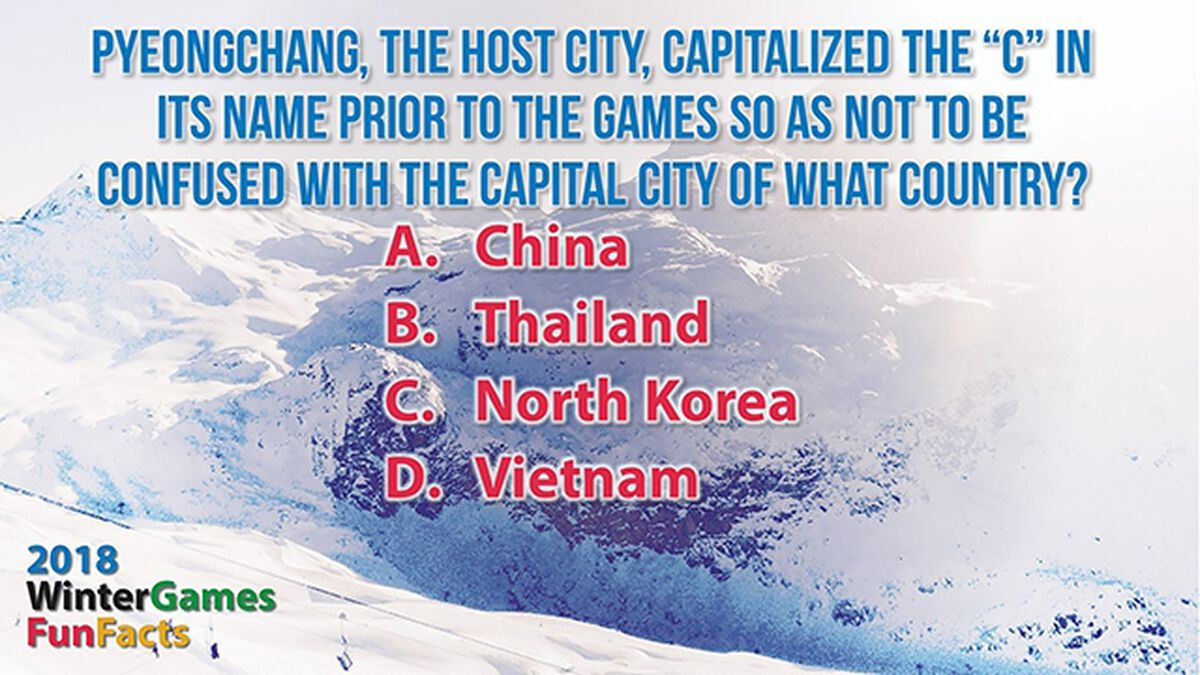 2018 Winter Games Fun Facts image number null