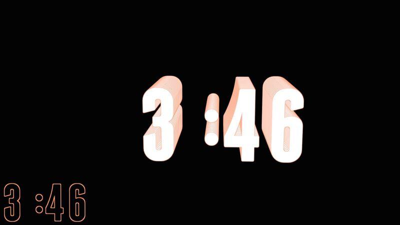 3D Neon Countdown